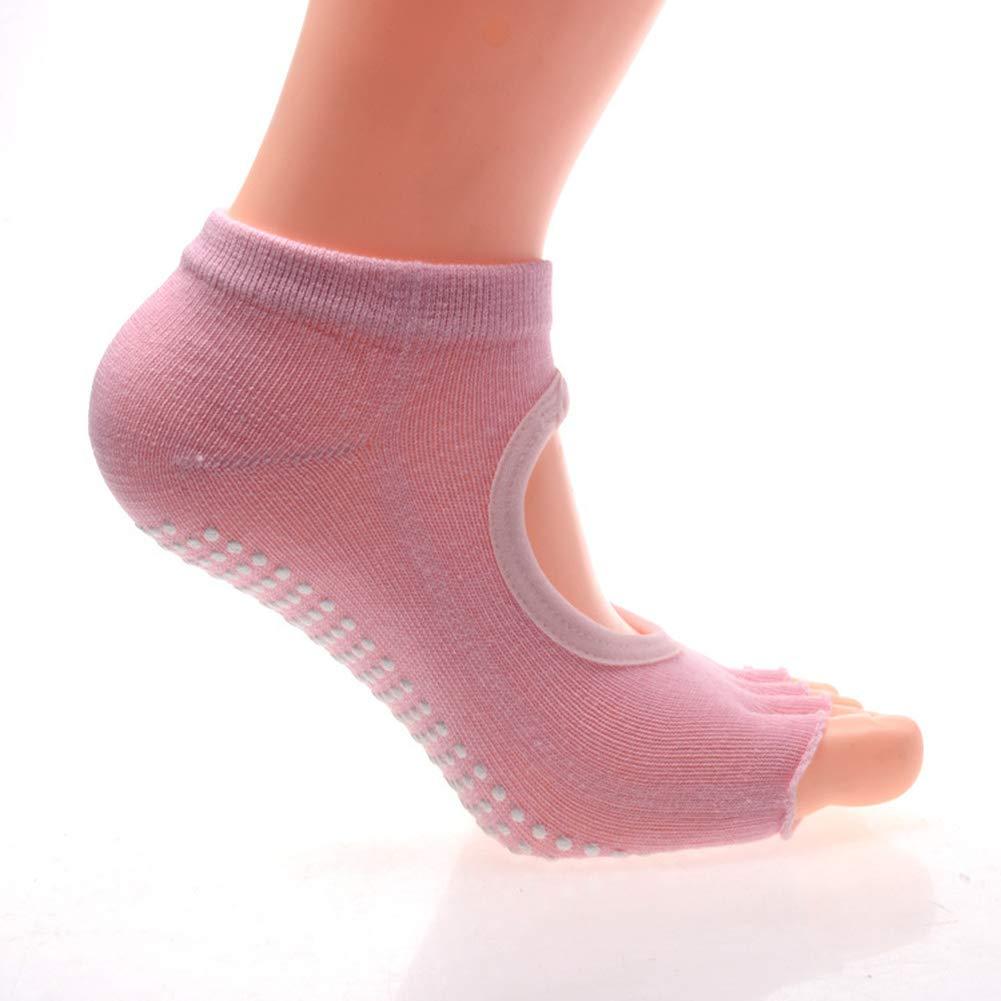 MXYXY Yoga Socken Rückenfrei Fünf Finger Yoga Rutschig Rückenfrei Fünf Zehen Yoga Socken Tanzsocken Pilates Wohlfühl…