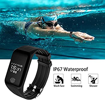 Funbot Fitness Tracker, Activity Tracker Heart Rate Monitor Smart Bracelet Ip67 Waterproof Fitness Watch Sleep Monitor Pedometer Calorie Counter With Replacement Band For Android & Ios 4