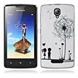 Lenovo A1000 Hülle, Lenovo A1000 Silicone Hülle, Gift_Source [ Löwenzahn ] Hülle Case Transparent Weiche Silikon Schutzhülle Handyhülle Schutzhülle Durchsichtig TPU Crystal Clear Case Backcover Bumper Case für Lenovo A1000 (for phone not for tablet)