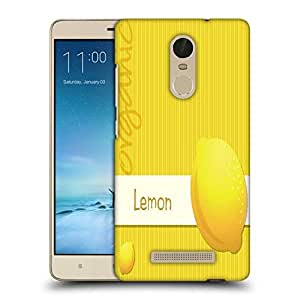 Snoogg bright organic lemon card in vector format Designer Protective Back Case Cover For Xiaomi Redmi Note 3