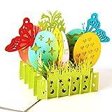Papier Spirit Pop Up Geburtstagskarte Kinder, Danksagungskarten Geburt, Grußkarten, Glückwunschkarten, Geschenkkarte, Karte zum Geburtstagzum Muttertag Ostern Geburtstag Taufe
