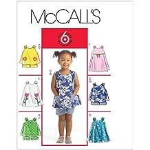 McCall's 5416 CCB - Patrones de costura para confeccionar ropa de niña (tallas 1, 2, 3 y 4)