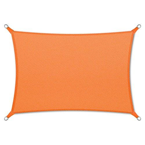 casa pura® Sonnensegel wasserabweisend imprägniert | Rechteck | Testnote 1.4 | UV Schutz Größen (orange, 3x5m)