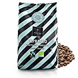 VOLLMER Espresso in ganzen Bohnen - Premium Kaffee aus Privatrösterei - Bio Fairtrade Kaffeebohnen - Frisch und schonend geröstet im Münsterland - 500g ganze Bohne kräftige Röstung