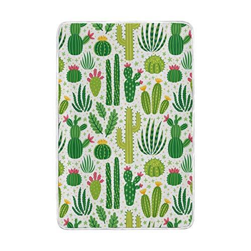 CPYang Überwurfdecke mit niedlichem Kaktusblütenmuster, weich, warm, Mikrofaser, für Bett Couch-Decken für Erwachsene, Mädchen, Jungen, Kinder, 152 x 229 cm