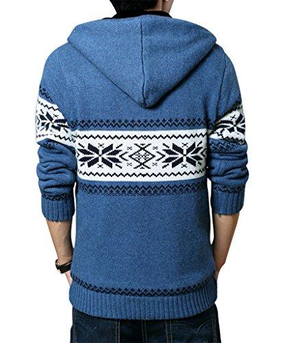 Gillbro Men's Deer Printing Cardigan de No?l Pull en tricot D