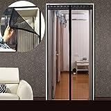Magnetische schirmtür sommer, Full frame velcro moskito-betten schlafzimmer heim snap schließen automatisch heavy-duty-sieb-C 90x200cm(35x79inch)