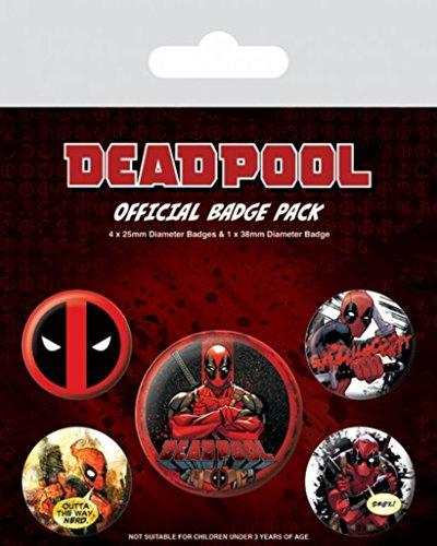 Deadpool - 5 Stück Big-Buttons Badge Pack