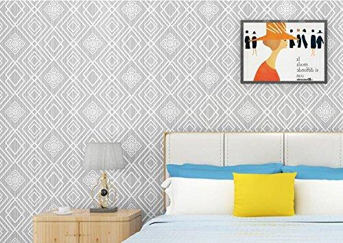 Cczxfcc Umweltschutz Vliestapeten 3D Dreidimensionale Relief Grid Einfache Europäische Wohnzimmer Tv Hintergrundbild (Grid-ziel)