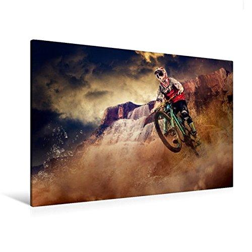 Mountainbike-kunst (Premium Textil-Leinwand 120 cm x 80 cm quer, Ein Motiv aus dem Kalender Mountainbike Trails | Wandbild, Bild auf Keilrahmen, Fertigbild auf echter Leinwand, Leinwanddruck (CALVENDO Sport))