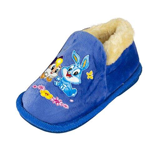 remonde dh-213Mädchen Bunny Winter Hausschuhe Blau