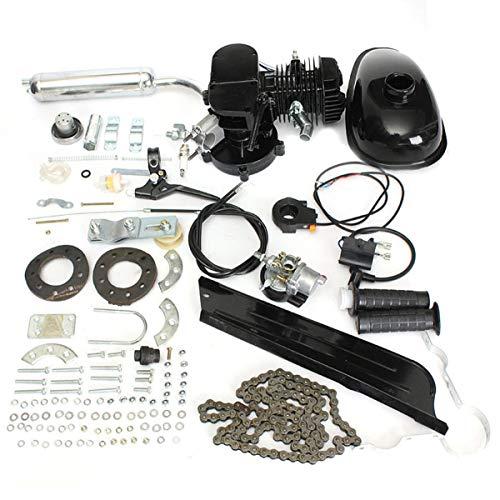 JINHUGU 50cc 2-Takt Gasmotor Fahrrad Benzin Schwarz Motor Luftkühlung Bike Kit New (Fahrrad Motor Benzin)