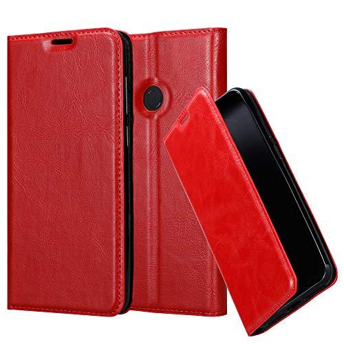 Cadorabo Hülle für Xiaomi Mi Max 3 - Hülle in Apfel ROT – Handyhülle mit Magnetverschluss, Standfunktion und Kartenfach - Case Cover Schutzhülle Etui Tasche Book Klapp Style