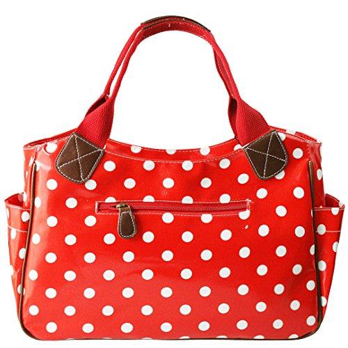 Miss Lulu, Borsa tote donna Polka Dots Red