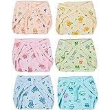 Kuchipoo Baby Hosiery Cotton Nappies, 6-12 Months (Kuc-Rnap-102, Multicolour) - Pack of 6