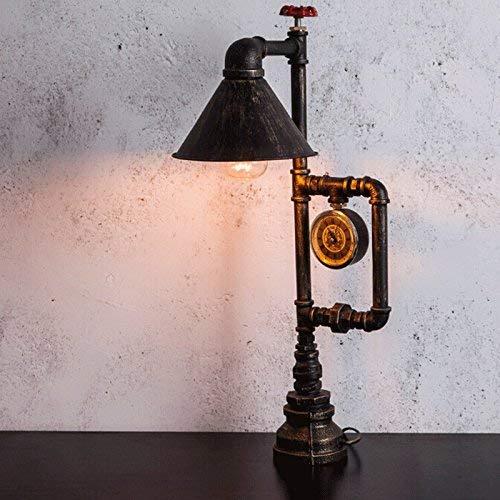 WHKFD Nasses Licht, Kreative Retro Schreibtisch-Nachttischlampe, Analoger Druckmesser