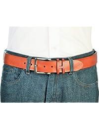 Jeans-Leder-Gürtel 40 mm Herren in verschiedenen Farben  100% Rindleder,  Gürtel-Schnalle nickelfrei, hergestellt in Handarbeit,… 7d96b12527