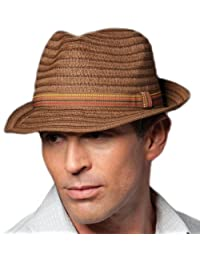 Adults Unisex Braid Trilby with Narrow Brim and Band Brown 58cm