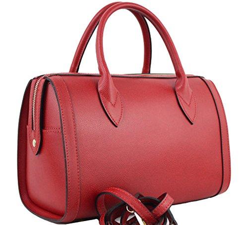 G&G Pelletteria Fiorentina bauletto in vera pelle Rosso