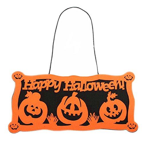 Westeng Kreatives Alphabet Halloween-Dekor-Tür-Dekoration hängende Retro- hängende (Kreative Dekorationen Halloween)