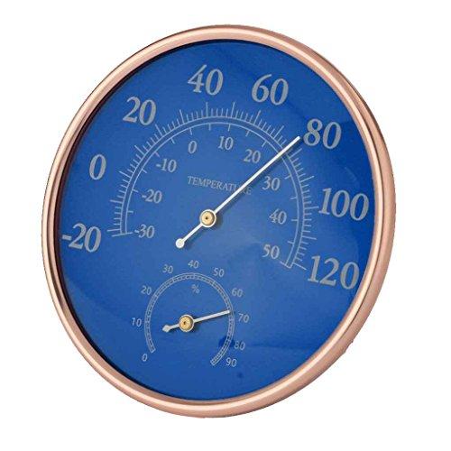 Befaith Großes rundes Thermometer-Hygrometer-Temperatur-Feuchtigkeits-Monitor-Meter-Messgerät blue 12.7cm diameter (Runde Dial Meter)