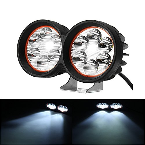 ILS - 12-80V 1000lm 40W Motor Bike Scooter Headlamp Bicycle ATV Spotlight Black White