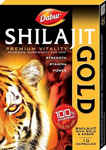 Dabur Shilajit Gold Premium Vitality - 10 Capsules with Free Shilajit Gold Premium Vitality - 2 Capsules