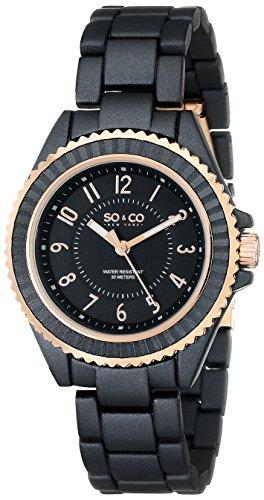 So & Co New York - Orologio da polso, Donna, Analogico, cinturino in metallo colore nero