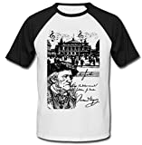 Photo de teesquare1st Men's Richard Wagner Composer German Black Short Sleeved T-Shirt par teesquare1st