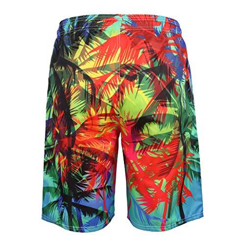 Badehose für Herren 3D gedruckte Shorts Freizeitsport Strand Hosen Sommer Fashion Badehose - Tan Khaki Cord