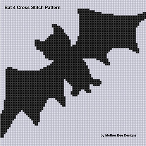 Bat 4 Cross Stitch Pattern (English Edition) (Bat Halloween Design)