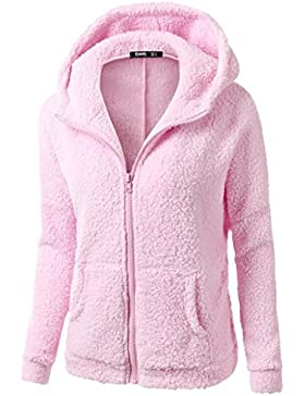 FNKDOR NUEVA capa del suéter con capucha de las mujeres Abrigo de la cremallera de la lana caliente del invierno...