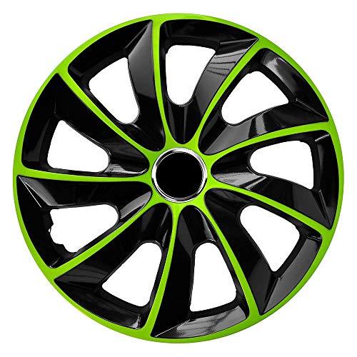 15 Grüne (CM DESIGN STIG EXTRA Grün/Schwarz - 15 Zoll, passend für Fast alle VW z.B. für Golf 7)