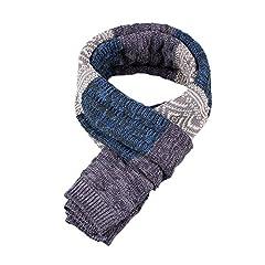 Idea Regalo - Yuson Girl Sciarpa Uomo Inverno Uomo Inverni scialle Maglia Scialle Caldo, Invernale Sciarpa Caldo Stola Uomo Pashmina per Uomo (Blu)