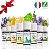 8 x 10 ml Huiles essentielles BIO + guide d'aromathérapie PDF ♦ AB HEBBD...
