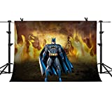 Mme Fond de Photographie 3 x 2,1 m Flamme Fond Marvel Super Hero Batman Photographie Mise à Niveau Matière Transparente en Vinyle Studio Photo Props Pme443