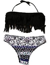 Ineternet Femmes Maillots de Bain Bikini Set Bandeau Push-up Rembourré