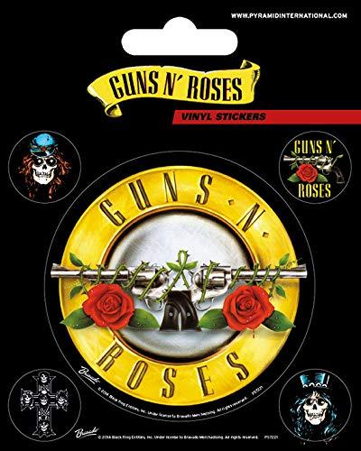 Guns N Roses Vinyl-Aufkleber, Papier, Mehrfarbig, 10 x 12.5 cm