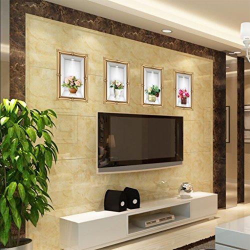 CHENGYI Stereoscopica Emulazione 3D Adesivo da parete Arte di decorazione alta di...