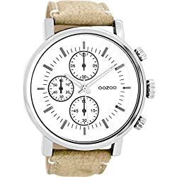 OOZOO Timepieces Camel/Wit Horloge C8565