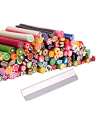 TOOGOO(R) 100 batons fimo de decorations autocollantes relief pour ongles - manucure