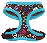 East Side Collection Peace Out Hundegeschirr, klein, Himbeerrot