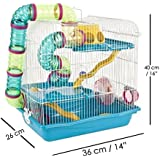 Giant Tri-Floor Habitat/cage for Hamsters & Other Small Pets (Fully accessorised)