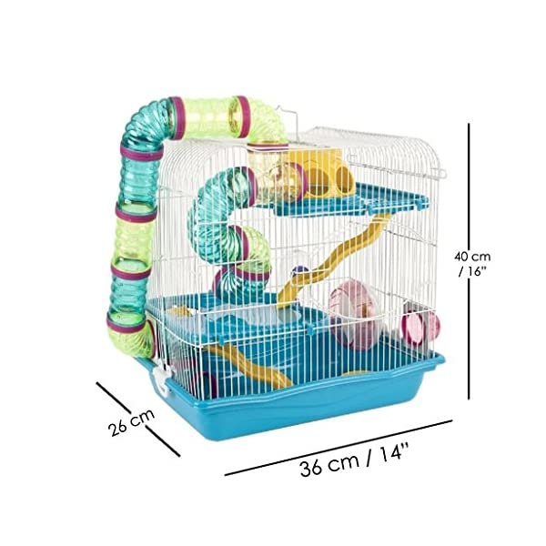 Anokhe Collections Giant 3 Floor Hamster cage (Blue)