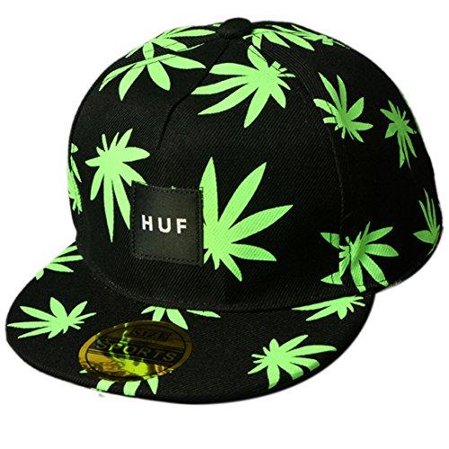 THENICE Kind Hip-Hop Cap Baseball Kappe Hut (Maple Leaf grün)