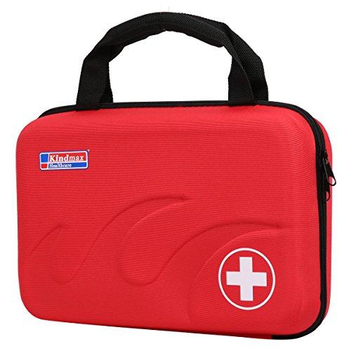 Eshow EVA Medizintasche für Notfälle Betreuertasche Reiseapotheke Tasche Erste Hilfe Set Medizinkoffer Sanitätstasche Rot
