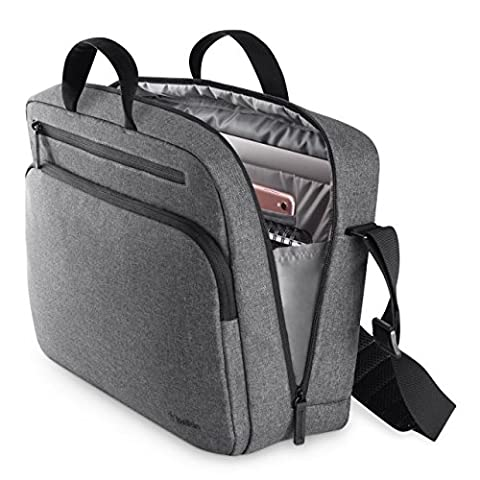 Belkin Classic Pro Messenger-Tasche (15,6 Zoll, Laptop-Tasche) grau