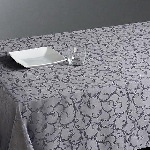Tovaglia antimacchia in jacquard, 140 x 240 cm, colore: grigio chiaro