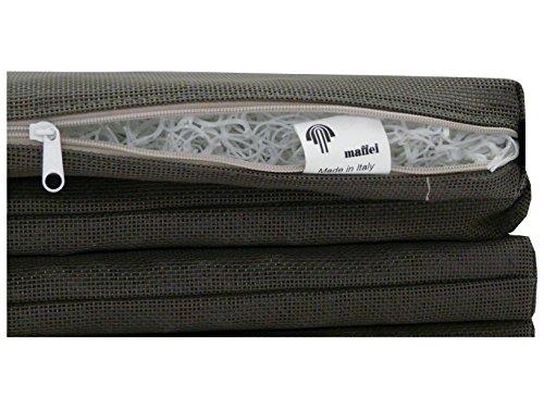 Maffei art860taupe Pool Coussin de Haute Technologie Textile perméable, Transpirant, 40X40X5 cm. Fabriqué en Italie, Taupe