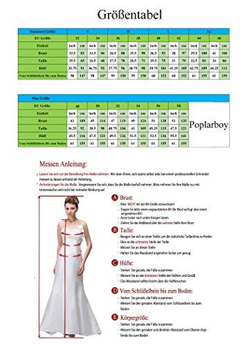 Poplarboy Damen Fashion Traegerlos Cocktailkleid Hi-Lo Chiffon Lang Abendkleider Festkleider Ballkleider Violett